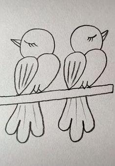 art for kids easy drawing * art for kids ; art for kids easy ; art for kids creative ; art for kids hub ; art for kids room ; art for kids easy drawing ; art for kids at home ; art for kids easy diy projects Art Drawings Sketches Simple, Easy Drawings For Kids, Pencil Art Drawings, Bird Drawings, Doodle Drawings, Drawing For Kids, Drawing Drawing, Simple Bird Drawing, Simple Tumblr Drawings