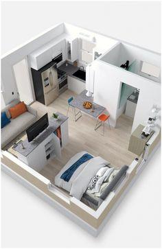 Studio Apartment Living, Studio Apartment Floor Plans, Studio Apartment Layout, Studio Apartment Decorating, Studio Living, Studio Apartment Furniture, Studio Layout, Studio Apt, House Studio