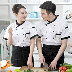 Product Description: * Brand New * Short Sleeve with white color & black lines. Uniform Shirts, Work Shirts, Chef Dress, Japan Fashion, Mens Fashion, Housekeeping Uniform, Man Japan, Uniform Design, Textiles