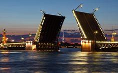 река, северная столица, россия, питер, нева, разводной мост, обои, город…