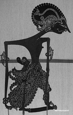 Wayang Kulit puppet from Java, Indonesia Shadow Theatre, Bali, Javanese, East Indies, Shadow Play, Shadow Puppets, Stop Motion, Light In The Dark, Illustration Art
