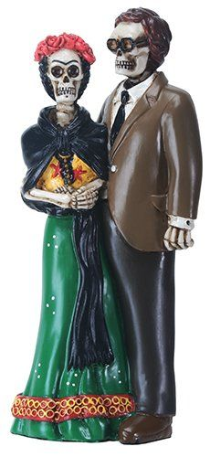 Day of the Dead Frida and Diego Mexican Painter Skeleton Skull Statue Figurine *** Be sure to check out this awesome product.