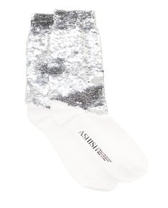 Hand-sequined Embellished Socks by ASHISH