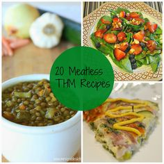 Darcie's Dishes: 20 Meatless THM Meals // If you need your grocery budget to go a little further each month, try eating meatless dinner meals twice a week and see the savings start to add up.