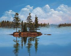 Lake scene painter and artist area of Toronto, Muskoka, Northern Ontario and Canada. Watercolor Landscape Paintings, Canadian Artists, Painting Tips, Ontario, Scene, Artwork, Travel, Nature, Work Of Art