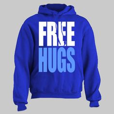 FREE HUGS funny Hoodie hooded sweatshirt by HotterTopic on Etsy, $22.00