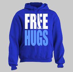 FREE HUGS funny Hoodie hooded sweatshirt by HotterTopic on Etsy, $22.00