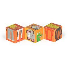Jungle Animals Blocks PRINTABLE PDF Toy DIY Craft Kit door pukaca