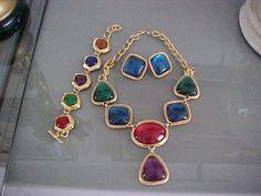 Vint Kenneth Jay Lane KJL for Avon  Necklace, Bracelet & Earrings #kjlavon