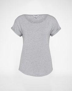 mbym Basic-Shirt ´Nisha´ Damen grau
