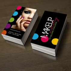 Fully customizable makeup artist business card templates designed by Colourful Designs Inc. Copyright 2013