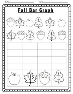 Worksheets Kindergarten Fall Worksheets learning colors leaves and math on pinterest fall themed literacy activities graph kindergarten