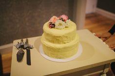 Butter cream 2 tier wedding cake