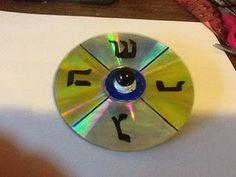 Make a dreidel from a CD!