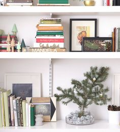 10 Holiday Decorating Tricks to Steal from this Tiny Apartment | Style a Holiday Shelfie