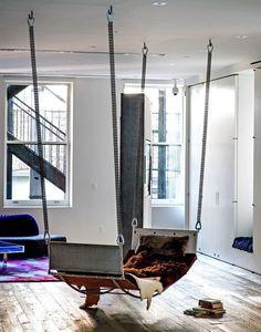 Indoor hammocks are always fun...