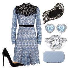A fashion look from July 2017 featuring high neck lace dress, heel pump and chain handle handbag. Browse and shop related looks. Lovely Dresses, Fall Dresses, Coco Chanel Dresses, Royal Fashion, Fashion Looks, Classy Outfits, Cute Outfits, High Neck Lace Dress, Lawyer Outfit
