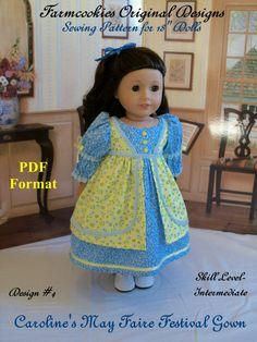 PDF Pattern for American Girl Regency May Faire by Farmcookies, $11.95