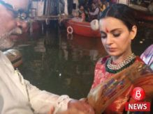 Video alert! Kangana Ranaut takes a dip in holy river Ganga to seek blessings for Manikarnika