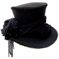 Minihut magic beads Steampunk cylinder hat ($66) ❤ liked on Polyvore