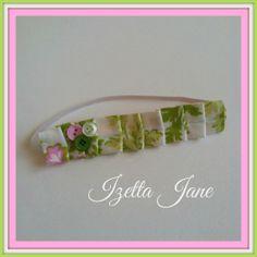 Nicey Jane Shabby Chic Ruffle Pleated Headband  One by IzettaJane, $6.50
