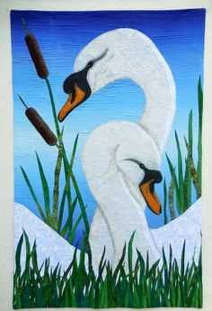 """Swan Song, 30 x 46"""", by Sally Gould Wright"""