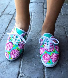 Lilly Pulitzer Inspired Shoes-First Impression Print Tie Dye Shoes, Swarovski Stones, Southern Style, Keds, Crocs, Lilly Pulitzer, Dyi, Preppy, Inspired