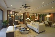 Take a peek inside these luxury homes inspired by the Spanish colonial bahay-na-bato at the heart of the city Modern Filipino Interior, Modern Filipino House, Scandinavian Interior Design, Home Interior Design, Interior Decorating, Contemporary Architecture, Interior Architecture, Library Architecture, Tropical Architecture