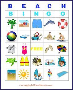 Printables -Beach Bingo & other fun kid activity