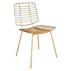 Marlene Iron Dining Chair - Gold - Abbyson : Target
