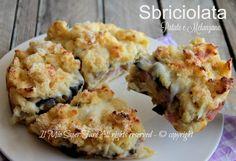 Sbriciolata patate e melanzane secondo piatto o piatto unico gustoso e sorprendente.Le ricette con patate sono le più buone.Torta di patate rustica filante