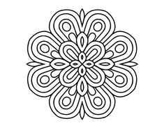 Pattern Coloring Pages, Coloring Book Art, Mandala Coloring, Colouring Pages, Adult Coloring Pages, Mandala Pattern, Mandala Design, Faux Stained Glass, Beautiful Rangoli Designs
