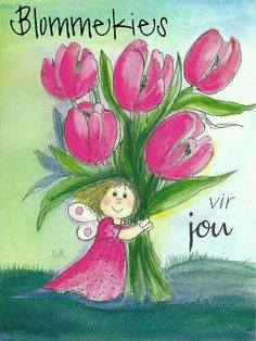Postcard travelled 793 miles in 5 days (from Finland to Netherlands) Happy Paintings, Watercolor Paintings, Whimsical Art, Cute Illustration, Cute Drawings, Cute Art, Creative Art, Flower Art, Flower Power