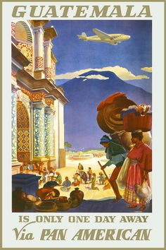 Guatemala travel poster