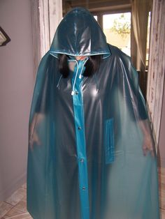 Raincoats For Women Christmas Gifts Code: 6976267407 Vinyl Raincoat, Pvc Raincoat, Raincoat Jacket, Plastic Raincoat, Yellow Raincoat, Hooded Raincoat, Plastic Pants, Latex Fashion, Curvy Fashion