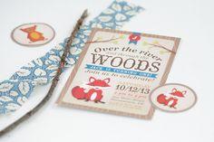 Woodland Fox Birthday Invitation  First by PrintsForEvents on Etsy, $15.00