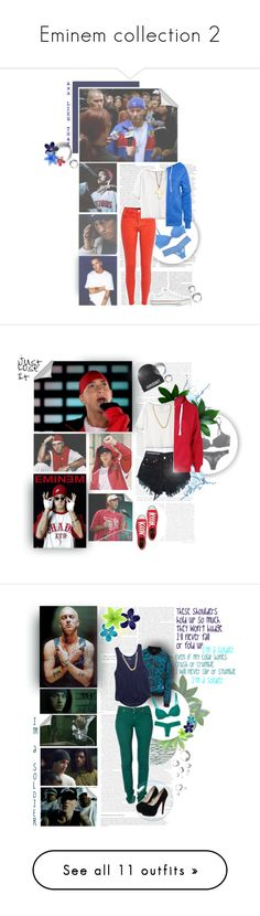"""""""Eminem collection 2"""" by brunette16 ❤ liked on Polyvore featuring ASOS, Victoria Beckham, American Eagle Outfitters, Victoria's Secret, River Island, Free People, Alternative, Converse, Minor Obsessions and A Question Of"""