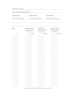 Foster Care Record Keeping Printable Worksheets | Foster care ...