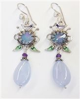 Vanessa Mellet Opal, Pearl and Chalcedony Earrings