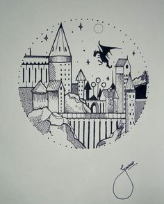 Hogwarts dibujo Doodle – … – You are in the right place about first tattoo ideas mens Here we offer you the most beautiful pictures about the first tattoo ideas quotes you are looking for. When you examine the Hogwarts dibujo Doodle – … – … Harry Potter Tattoos, Arte Do Harry Potter, Harry Potter Drawings Easy, Doodle Art Drawing, Doodle Sketch, Drawing Sketches, Doodle Doodle, Drawing Ideas, Tattoo Sketches