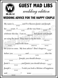 Fun Custom Designed Wedding Guest Book by WeddingsByJamie on Etsy, $15.00