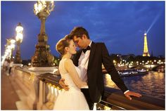 Capturing Paris in a romantic night shoot © Djamel Photography   French Wedding Style