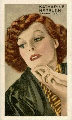 Katharine Hepburn - a collector's Tobacco Card - 1930s. | Flickr - Photo Sharing!
