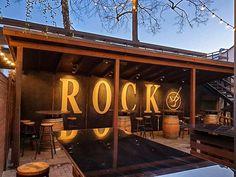 Rock 'N' Roll pub backyard in Šiauliai, Lithuania. Irish Pub Interior, Bar Interior, Interior And Exterior, Lithuania, Summer Garden, Rock N Roll, Exterior Design, Rolls, Backyard