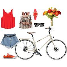 Sunday by irialore on Polyvore featuring polyvore fashion style H&M Converse Sakroots Kate Spade Linda Farrow OKA Hermès