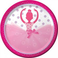 8 assiettes danseuse ballerine pour l'anniversaire de votre enfant - Annikids