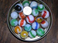 Lot #77 has 20 Vintage Marbles Miscellaneous Color & White Twenty Marbles