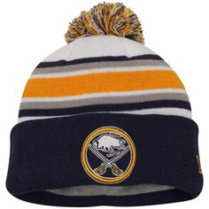 d76529e7090 Youth Buffalo Sabres New Era Navy Blue Team Hook Up Knit Cuffed Hat with Pom