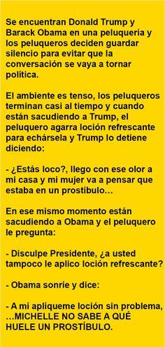 Se encuentran Donald Trump y Barack Obama …