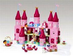 Château de princesse Lego - Cadeaux de Noël - Les filles ont leurs Duplo-Lego rien que pour elles ! Voici un ensemble de belles briques roses et mauves pour contruire un magnifique palais de princesse. Château de princesse Lego...